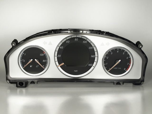 Tacho Design Mercedes C W204 Meilen Km Wechsel