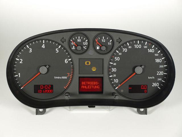AUDI audi A3/SE (8L) Medidas analógicas